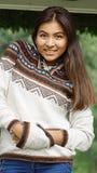 Adolescente con el pelo largo Imagen de archivo