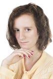 Adolescente con el pelo marrón Imagen de archivo