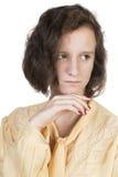 Adolescente con el pelo marrón Imagen de archivo libre de regalías