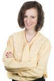 Adolescente con el pelo marrón Imagenes de archivo