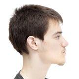 Adolescente con el pelo oscuro corto Fotografía de archivo
