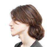 Adolescente con el pelo oscuro largo Foto de archivo