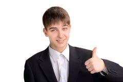 Adolescente con el pulgar para arriba Fotos de archivo