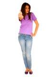 Adolescente con el pulgar para arriba Fotografía de archivo libre de regalías