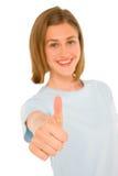 Adolescente con el pulgar para arriba Imagen de archivo