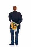Adolescente con el ramo de flores Fotografía de archivo libre de regalías