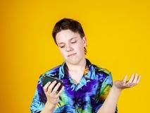 Adolescente con el retrato binocular del primer de la ópera Fotografía de archivo libre de regalías