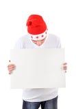 Adolescente con el tablero blanco Fotos de archivo