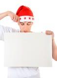Adolescente con el tablero blanco Imágenes de archivo libres de regalías