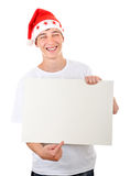 Adolescente con el tablero blanco Imagenes de archivo