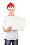 Adolescente con el tablero blanco Foto de archivo libre de regalías