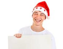 Adolescente con el tablero en blanco Imagen de archivo libre de regalías