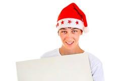 Adolescente con el tablero en blanco Imágenes de archivo libres de regalías