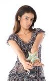 Adolescente con el trofeo de la estrella Fotos de archivo