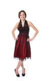 Adolescente con el vestido de noche Imagenes de archivo