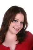 Adolescente con eyeliner e un anello di radiatore anteriore immagini stock