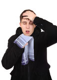 Adolescente con gripe Fotos de archivo