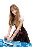 Adolescente con hierro eléctrico Foto de archivo