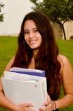 Adolescente con i libri Immagine Stock
