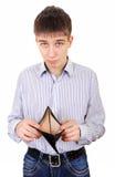 Adolescente con il portafoglio vuoto Fotografie Stock