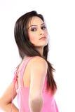 Adolescente con la alineada rosada Fotos de archivo libres de regalías