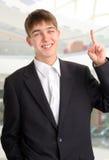 Adolescente con la barretta in su Fotografie Stock