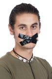 Adolescente con la boca sellada Fotografía de archivo