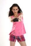 adolescente con la cámara Imágenes de archivo libres de regalías
