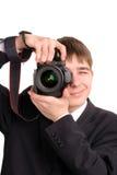 Adolescente con la cámara Imagenes de archivo
