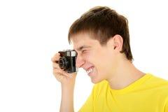 Adolescente con la cámara de la foto Fotos de archivo libres de regalías