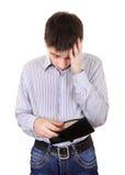 Adolescente con la cartera vacía Imágenes de archivo libres de regalías