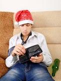 Adolescente con la cartera vacía Imagen de archivo