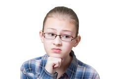 Adolescente con la expresión ofendida Foto de archivo libre de regalías