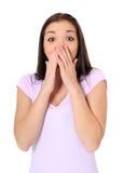 Adolescente con la expresión sorprendida Foto de archivo libre de regalías