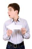 Adolescente con la flecha blanca Fotografía de archivo libre de regalías