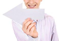 Adolescente con la flecha blanca Foto de archivo libre de regalías