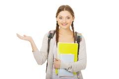 Adolescente con la mano abierta Foto de archivo libre de regalías