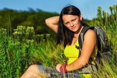 Adolescente con la mochila Foto de archivo