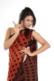 Adolescente con la sari Fotos de archivo libres de regalías