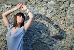 Adolescente con la sombra Fotografía de archivo