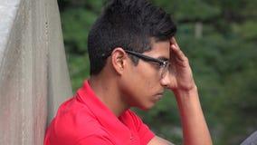 Adolescente con la tensión y la ansiedad Foto de archivo