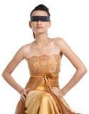 Adolescente con la venda negra Imagen de archivo libre de regalías