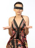 adolescente con la venda negra Foto de archivo libre de regalías