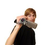 Adolescente con la videocámara de HD Fotos de archivo libres de regalías