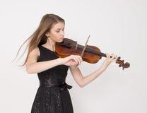 Adolescente con la viola Foto de archivo libre de regalías
