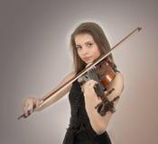 Adolescente con la viola Fotografía de archivo libre de regalías