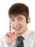 Adolescente con las auriculares Imágenes de archivo libres de regalías