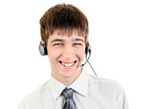 Adolescente con las auriculares Imagen de archivo libre de regalías