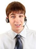 Adolescente con las auriculares Fotos de archivo