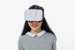 Adolescente con las gafas 3D Imágenes de archivo libres de regalías